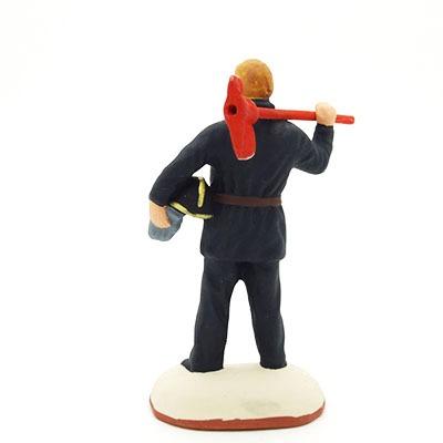 santon de provence peint à la main pompier dos