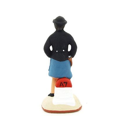 santon de provence peint à la main gendarmette dos
