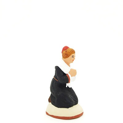santon de provence peint à la main prieuse profil