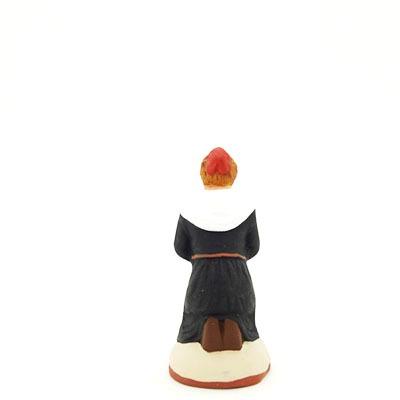 santon de provence peint à la main prieuse dos