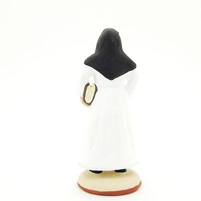 santon de provence peint à la main religieuse dos