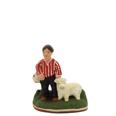 santon-peint-enfant-berger-agneau