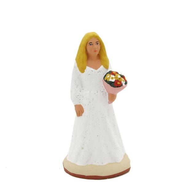 santon de provence peint à la main la mariée