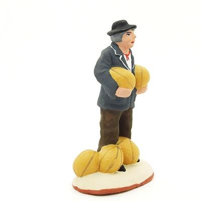 santon de provence peint à la main homme aux melons profil