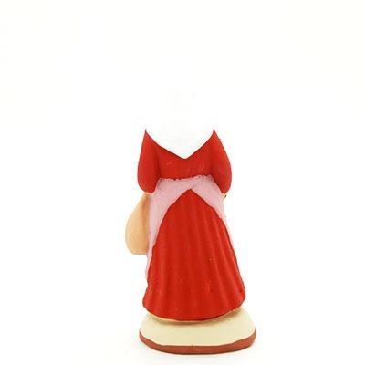 santon peint à la main femme au jambon dos
