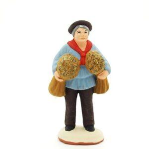 santon de provence peint à la main l'homme aux blés