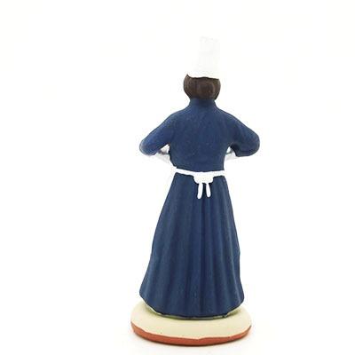 santon de provence peint à la main patissiere dos