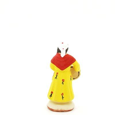 santon de provence peint à la main petite gitane dos