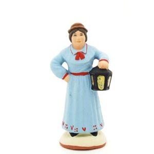 santon de provence la femme à la lanterne