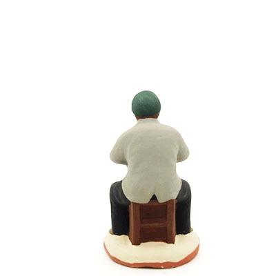 santon de provence peint à la main spectateur saturnin dos