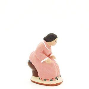santon peint à la main femme cagadou