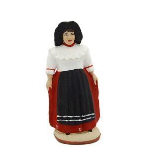 santon de provence l'alsacienne peint à la main