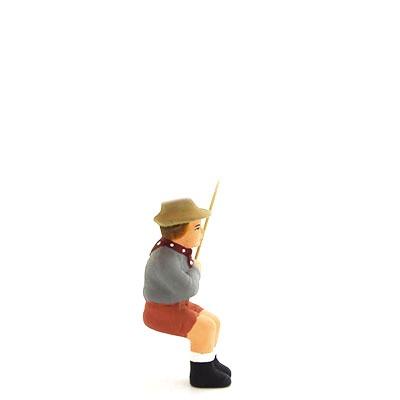 santon peint à la main fils du pêcheur profil