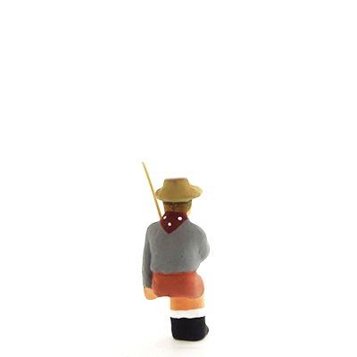 santon peint à la main fils du pêcheur dos