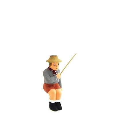santon peint à la main fils du pêcheur