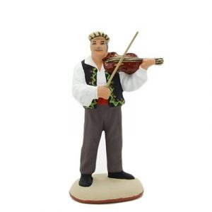 santon de provence peint à la main violoniste