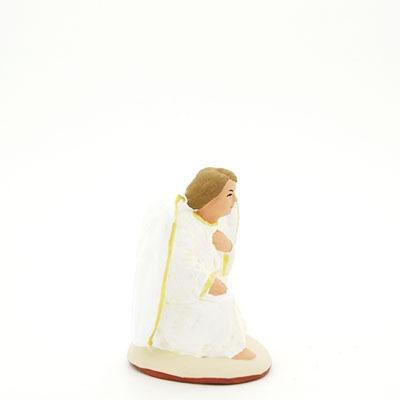 L'ange à genoux peint à la main profil