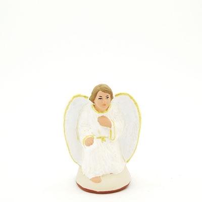 L'ange à genoux peint à la main
