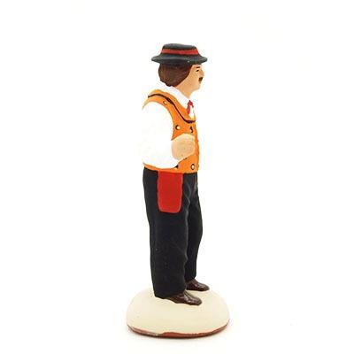 toulousain santon de provence peint à la main profil