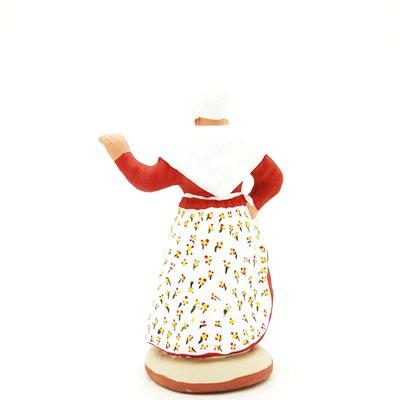 toulousaine santon de provence peint à la main dos