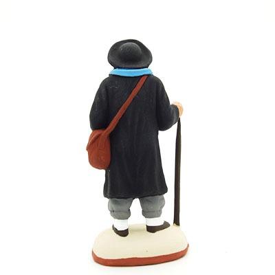 santon de provence peint à la main pelerin saint jacques de compostelle dos