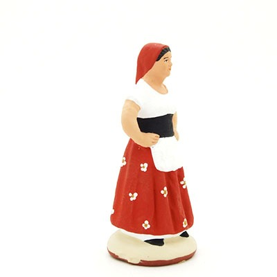 La catalane peint à la main santon de provence peint a la main profil