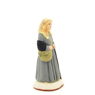 santon peint à la main la fille des collines profil