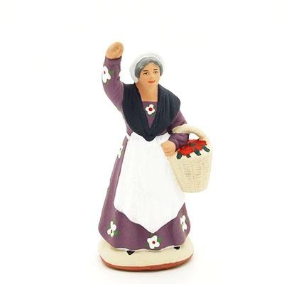 La cueilleuse de fruits santon de Provence peint à la main