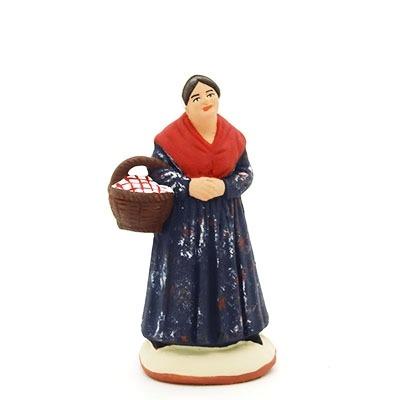 Santon de Provence la commere au panier peint à la main