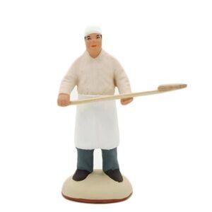 Santon de Provence peint à la main le boulanger qui enfourne