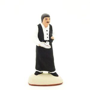 serveur santon de provence peint à la main