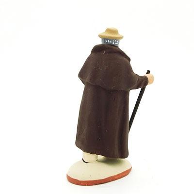 Santon de provence peint berger agneau bâton dos