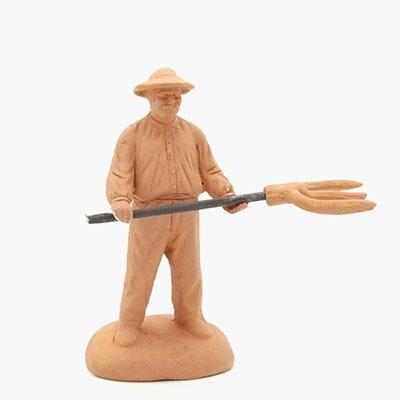 Santon homme à la fourche à peindre