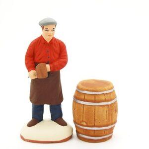 santon peint à la main Fabricant de tonneaux
