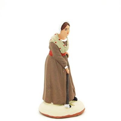 La femme pommes de terre - santon de Provence peint à la main profil
