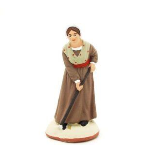 La femme pommes de terre - santon de Provence peint à la main