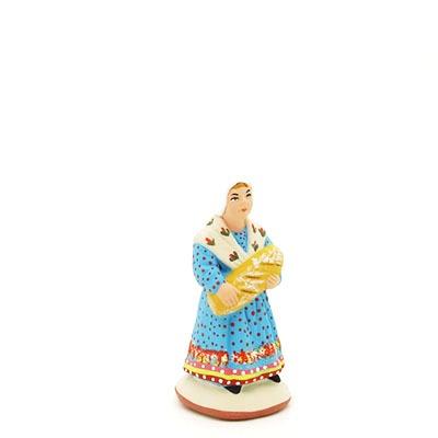 petite fille au pain peint à la main profil