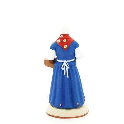 Femme aux calissons d'Aix santon de provence peint à la main dos