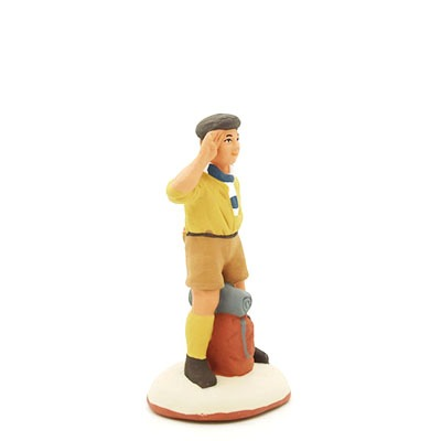 Scout santon peint à la main profil