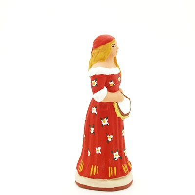 santon de provence peint à la main gitane profil