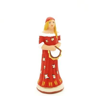 santon de provence peint à la main gitane