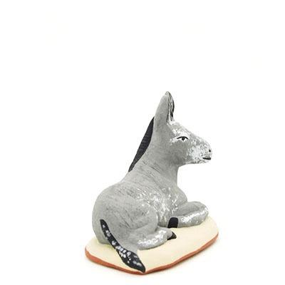 Santon provence peint à la main nouveauté âne 2017 profil