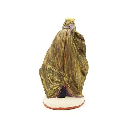 santon de provenceroi noir 2017 peint à la main dos