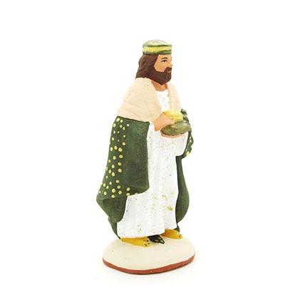 santon de provence peint à la main roi blanc nouveauté profil