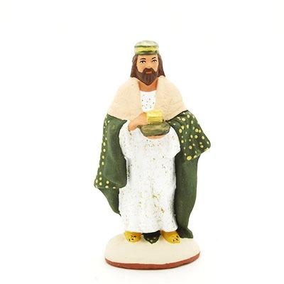 santon de provence peint à la main roi blanc nouveauté