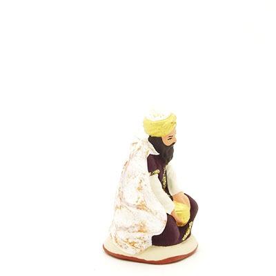 santon peint roi à genoux 2017 profil