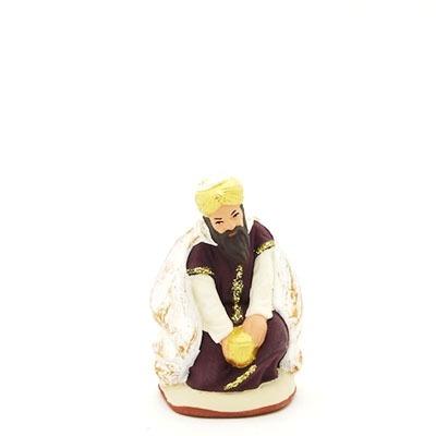 santon peint roi à genoux 2017