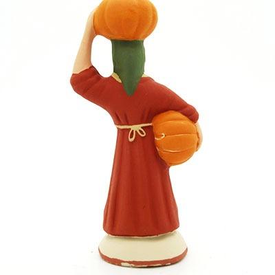 santon de provence peint à la main femme à la courge dos