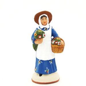 santon peint à la main femme fleuriste