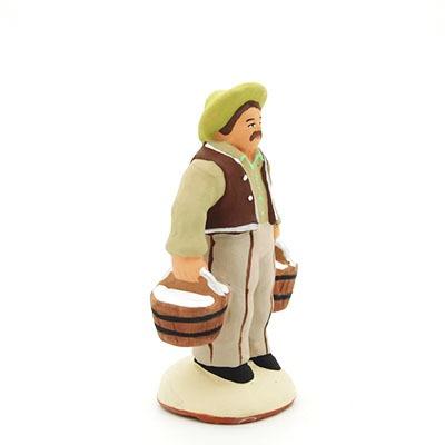Le porteur d'eau - santon de Provence peint à la main profil